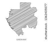 scribble sketch of gabon map... | Shutterstock .eps vector #1362435077
