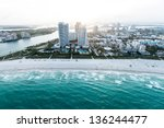 Beautiful Coastline Of Miami...