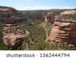 Scenic view of a canyon at Colorado National Monument in Fruita, Colorado