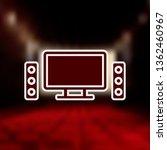 home cinema mono color icon....