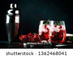 red cocktail with cold vodka... | Shutterstock . vector #1362468041