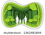 carving design of city urban ... | Shutterstock .eps vector #1362481844