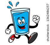 glass of water mascot running   ... | Shutterstock .eps vector #1362486257