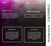 light pink vector ui kit with...