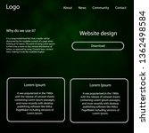 dark green vector ui ux kit...