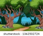 a tropical rainforest... | Shutterstock .eps vector #1362502724