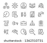 set of job search icons  such... | Shutterstock .eps vector #1362510731