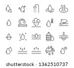 set of water icons  such as... | Shutterstock .eps vector #1362510737