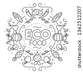 eco food. set of different... | Shutterstock .eps vector #1362512207