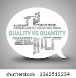 quality vs quantity words... | Shutterstock . vector #1362512234