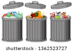 set of metal plastic container... | Shutterstock .eps vector #1362523727