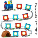 a train game template ... | Shutterstock .eps vector #1362523784