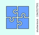 puzzle icon mono color icon....
