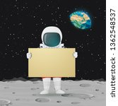 vector illustration. astronaut... | Shutterstock .eps vector #1362548537