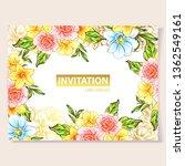 vintage delicate greeting... | Shutterstock .eps vector #1362549161