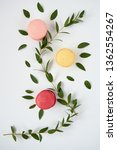 sweet colorful macarons with a... | Shutterstock . vector #1362554267