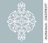 damask graphic ornament. floral ... | Shutterstock .eps vector #1362558197