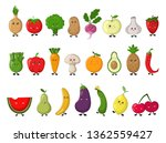 set of colorful images of cute...   Shutterstock .eps vector #1362559427