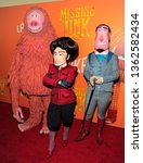 Small photo of New York, NY - April 7, 2019: Cartoon characters form the movie attend Missing Link New York premiere at Regal Cinema Battery Park