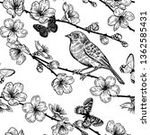 seamless pattern with japanese... | Shutterstock .eps vector #1362585431