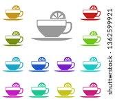 tea  lemon  cup multi color... | Shutterstock . vector #1362599921