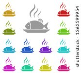 fish  dishes  food multi color...