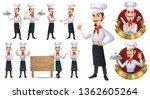 cartoon chef mascot character...   Shutterstock .eps vector #1362605264