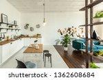 spacious studio apartment... | Shutterstock . vector #1362608684