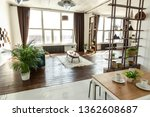 spacious studio apartment... | Shutterstock . vector #1362608687