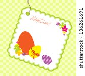easter background | Shutterstock .eps vector #136261691