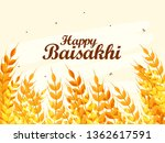 illustration of happy baisakhi... | Shutterstock .eps vector #1362617591