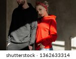 beautiful young stylish couple... | Shutterstock . vector #1362633314