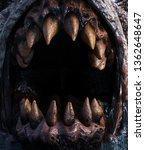 close up teeth of monster... | Shutterstock . vector #1362648647