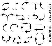 arrows. black signs. vector... | Shutterstock .eps vector #1362655271