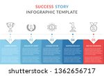 success story with line icons ... | Shutterstock .eps vector #1362656717