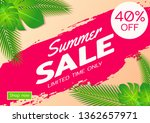 summer sale offer banner sea... | Shutterstock .eps vector #1362657971