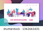 social worker community care of ... | Shutterstock .eps vector #1362661631