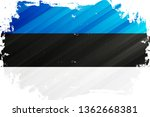 flag of the estonia brush... | Shutterstock .eps vector #1362668381
