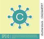 green copywriting network icon... | Shutterstock .eps vector #1362668597