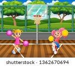 cheerleaders dancing on...   Shutterstock .eps vector #1362670694
