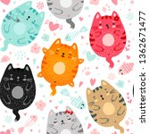 Funny Doodle Colored Cats...