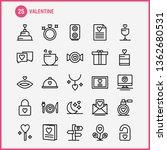 valentine line icon pack for... | Shutterstock .eps vector #1362680531