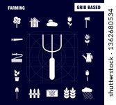 farming solid glyph icon for...