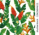 vivid realistic vector tropical ... | Shutterstock .eps vector #1362684611