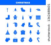christmas solid glyph icons set ...