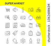 super market hand drawn icons...