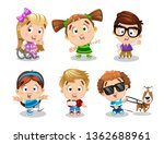 big set of physically... | Shutterstock .eps vector #1362688961