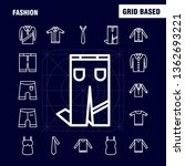 fashion line icons set for... | Shutterstock .eps vector #1362693221
