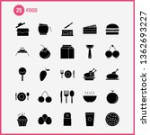 food  solid glyph icons set for ... | Shutterstock .eps vector #1362693227