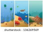 illustration of sea animals   Shutterstock .eps vector #136269569